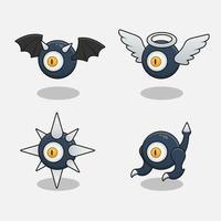 Monster one eye devil design game items vector
