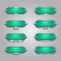 Set of game text boxes and banner vector