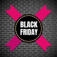 Black friday sale inspiration poster, banner or flyer vector illustration