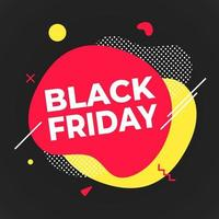 Black friday poster or banner design template vector illustration.