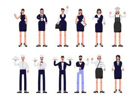 Bundle of many career character 2 sets, 12 poses of various professions, lifestyles, vector