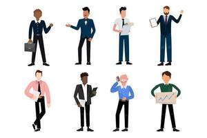 Bundle of many career character 2 sets, 8 poses of various professions, lifestyles, vector