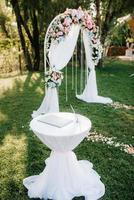área de ceremonia de boda foto