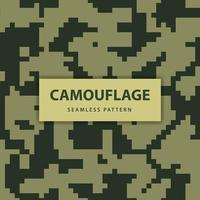 Military and army pixel camouflage seamless pattern vector