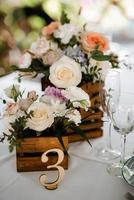 decoración de flores de boda foto