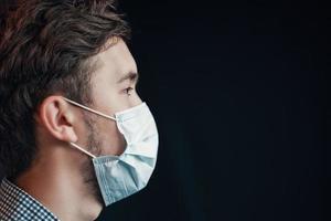 hombre en máscara. foto