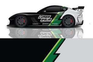 vector de diseño de envoltura de calcomanía de coche deportivo foto