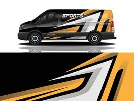 Car wrap graphic racing abstract background for wrap and vinyl sticker vector