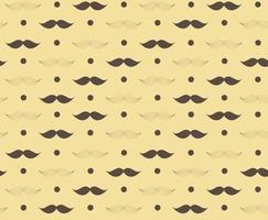 Moustache Seamless Pattern Vector Illustration