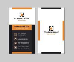 diseño creativo de tarjetas de visita naranja y negro vector