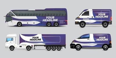 diseño de publicidad de transporte, concepto de diseño gráfico de coche. diseños gráficos de rayas abstractas para envolver vehículos, camionetas de carga, camionetas y librea de carreras. vector