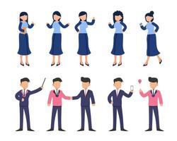 Bundle of many career character 2 sets, 10 poses of various professions, lifestyles, vector