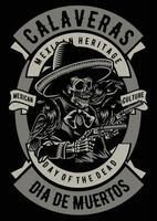 Calaveras Vintage Badge, Retro Badge Design vector