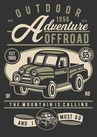 Outdoor Adventure Vintage Badge, Retro Badge Design vector