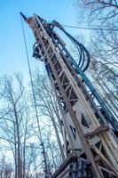 well drilling equipment on private property photo