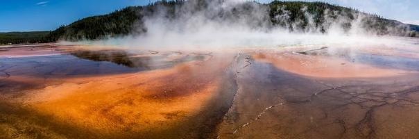 Grand Prismatic Spring in Yellowstone National Park photo