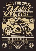 Built For Speed Motorcycle Vintage Badge, Retro Badge Design vector