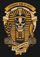 Legendary Egyptian King Vintage Badge, Retro Badge Design vector