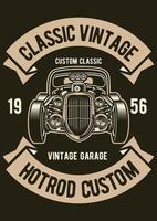 Classic Vintage Hotrod Vintage Badge, Retro Badge Design vector