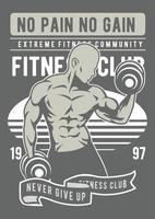 Fitness Vintage Badge, Retro Badge Design vector