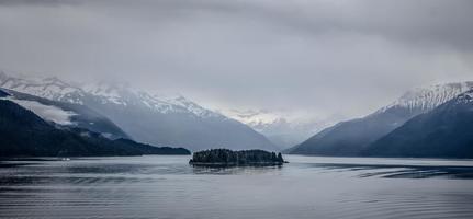 mountain range scenes in june around juneau alaska photo