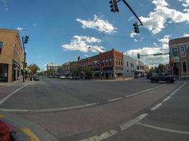 bozeman montana downtown on sunny day photo