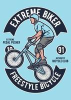 Extreme Bike Vintage Badge, Retro Badge Design vector