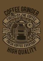 Coffee Grinder Classic Vintage Badge, Retro Badge Design vector