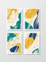 Abstract background art style arranged as a set. vector