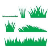 Green grass silhouette vector collection