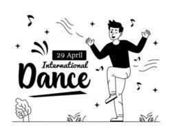 Dancing Boy On  International Dance Day vector