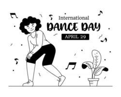 Dancing Girl Pose vector