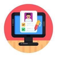 Online Exam and Quiz vector