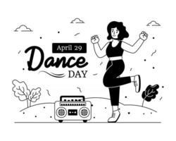Dance on Music vector