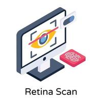 Retina Scan Recognition vector
