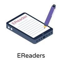 E Readers Book vector