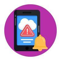 alerta y notificación meteorológica vector