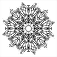 wedding vintage ornamental flourish mandala design for abstract background vector