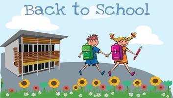 Happy School Kids Clip art Back to School Pro Vector image