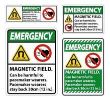 El campo magnético de emergencia puede ser perjudicial para los usuarios de marcapasos. vector