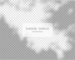 Shadow overlay effect. Natural shadows isolated on transparent background. Vector illustration.