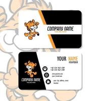 Vector Graphic of Business Card Design, with cute mascot tiger logo. Perfect to use for pet care