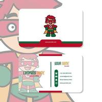 Vector Graphic of Business Card Design, with cute mascot tomato logo
