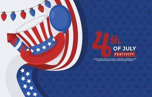 America Independence Day Celebration vector