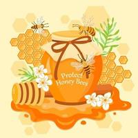 Protect Honey Bees vector