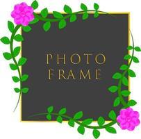 Creeper leaves floral frame vector illustration