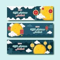 Happy Mid Autumn Festival Banner vector
