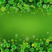 Beauty Clover Field Background vector
