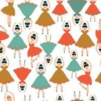 Seamless pattern with ballerines. Vector illustration.