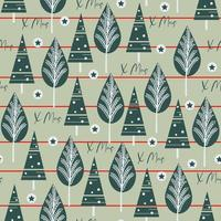Green Christmas tree, Pine leaves seamless pattern background vector